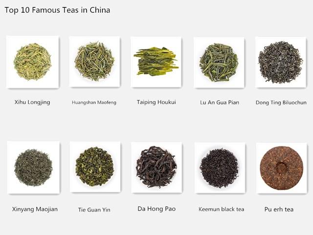 Top 10 famous teas