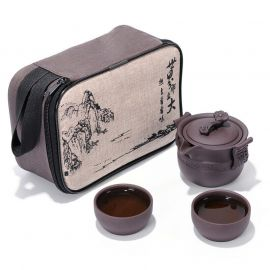 Zisha Pottery Travel Tea Set,Gongfu Tea Ware