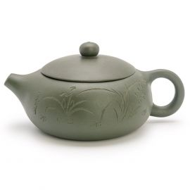 green clay teapot